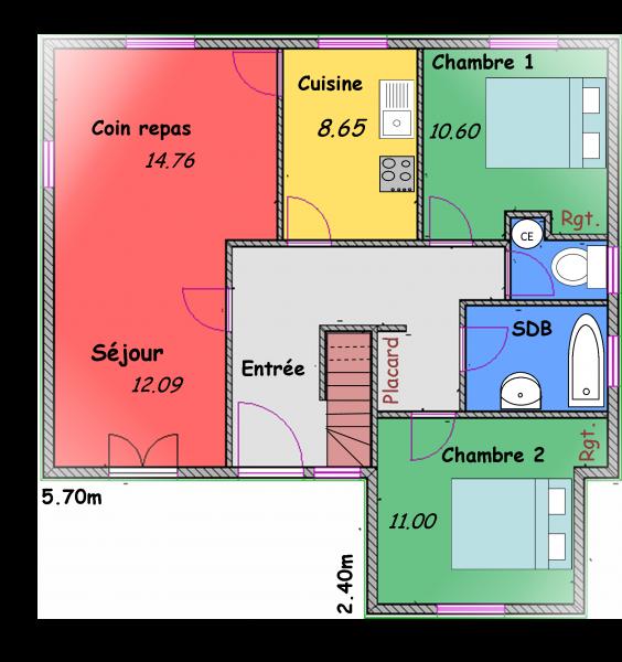 Plan de maison en l avec etage finest plan pavillon for Plan pavillon moderne