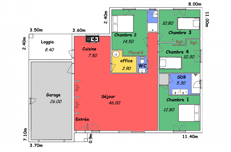 maison toit plat biokit habitat. Black Bedroom Furniture Sets. Home Design Ideas