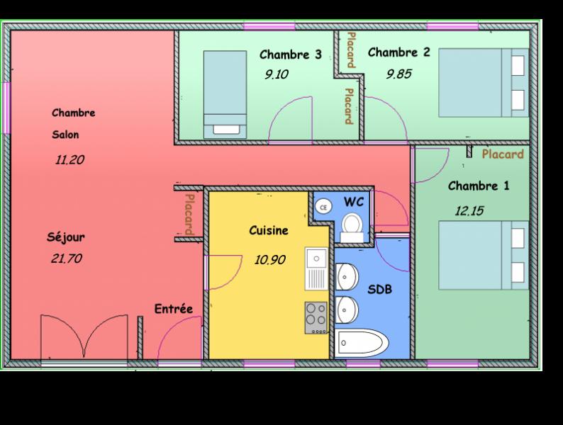 Plan cuisine 6m2 superbe cuisine ouverte avec ilot plan for Plan cuisine ouverte 6m2