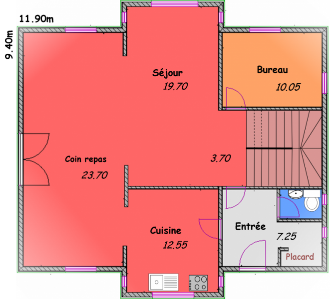 villa t8 villa biokit habitat. Black Bedroom Furniture Sets. Home Design Ideas
