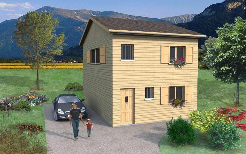 petite fa ade maisons avec combles biokit habitat. Black Bedroom Furniture Sets. Home Design Ideas